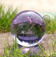 A rare light purple healing magic crystal cut glass ball ball + 40 mm