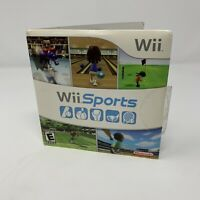 Wii Sports Nintendo Wii Game With Manual And Cardboard Sleeve Tested