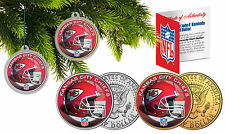 KANSAS CITY CHIEFS Christmas Tree Ornaments JFK Half Dollar US 2-Coin Set NFL