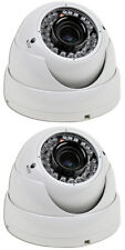 2 Sony Super HAD CCD II 700 TVL 2.8-12mm MP Lens 42 IR LED 120 Feet Vandal IP66