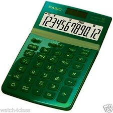 Casio Desk Green color extra large Tilt display Stylish calculator Jw-200Tw-Gn