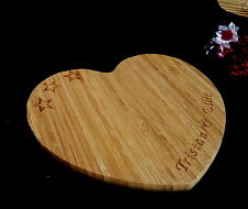 PERSONALISED BAMBOO WOOD HEART