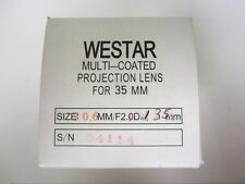 Westar 135mm FL  F2.1 35mm Cine Projector Lens New! MIB!