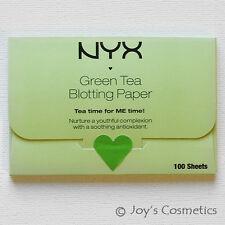 """1 NYX Green Tea Blotting Paper - """"BPRGT"""" (100% Pure pulp)   *Joy's cosmetics*"""