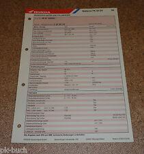 Inspektionsblatt Honda Wallaroo PK 50 DX Baujahr 1995