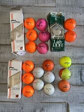 Rare Colored Vintage 19 Golf Ball Lot -Titleist, Ping, Wilson, Maxfli, Pinnacle