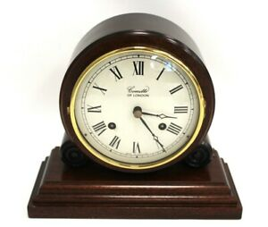 COMITTI Of London Vintage Style MANTLE CLOCK Mechanical England Key WORKING -H68