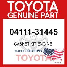 GENUINE OEM TOYOTA GASKET KIT, ENGINE 04111-31445