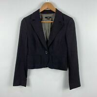 CUE Womens Jacket Coat Size 8 Brown Long Sleeve Button Closure