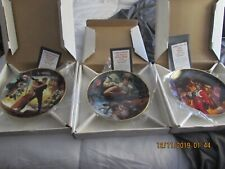 Hamilton Plates Star Wars Trilogy Collection - 1993 - 3 plates - never displayed