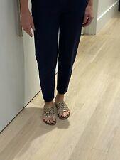 Kenzo Women's Dark Blue Cotton Size 36 Capri Pants