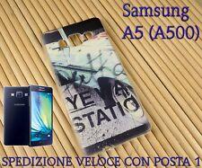 Cover custodia in gomma di silicone x Smartphone Samsung A5 (A500) AUTO VINTAGE