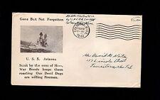 WWII Patriotic Military USS Arizona Not Forgotten Columbus MS 1944 Cover 3o