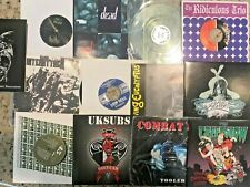 "6 Punk Metal Rock Lot 7"" 45rpm Record Picture Colored single Mixed w/ Sleeve NM"
