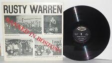 RUSTY WARREN Banned In Boston LP 1963 Jubilee Records Stand Up Comedy Vinyl