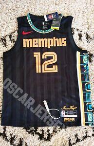 Maillot Jersey NBA Ja Morant Memphis Grizzlies 12 Nike Swingman Isaac Hayes