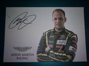 Marco Sorensen Aston Martin Racing Signed Card