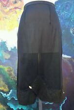 Pinup Sexy Black Skirt Slip Lingerie Old Hollywood Style Bombshell Vntg Lace Wow