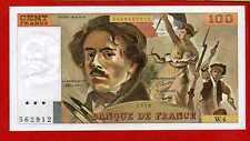 ( Ref: W.4c) 100 FRANCS DELACROIX  HACHURE 1978 (SPL) SÉRIE 4