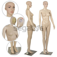 Adjustable Full Body Female Mannequin Realistic Shop Display Head Turns W/ Base