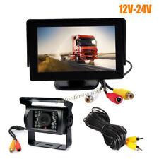 "4.3"" Car LCD Monitor + 18 LED IR Rear View Reverse Parking Backup Camera 12V-24V"