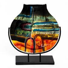 Glasvase Benjamin Art im Murano Stil Deko Vase Glas Kunst auf Ständer 40,5 cm