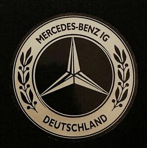 MBIG Aufkleber rund Stern Mercedes Benz IG  silber Daimler Benz