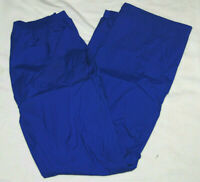 Columbia L rain pants shell PVC mens waterproof packable camping hiking blue