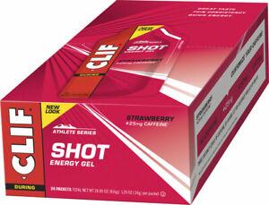 Clif Bar Clif Shot Energy Gel Strawberry + Caffeine 24-Pack of 1.2oz Pouches