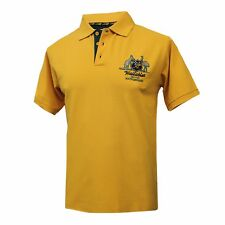 Wallabies Coat of Arms Polo Shirt - Gold - Size Small  **SALE PRICE**