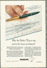 1946 PARKER PEN advertisement, Parker 51 pen, detail drawing