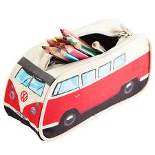 RED VW Volkswagen Split Screen Kombi Bus Camper Van Pencil Case Cosmetic Bag