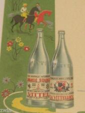 vintage French Vittel Water Spa Ad Menu retro kitchen decor old 1950s 1950's