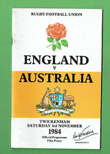 #Mm. England V Australia Rugby Union Program 3rd November 1984