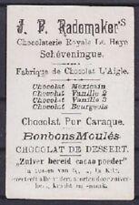 Tolle Reklame Werbe Karte Rademaker Chocolat Royale Scheveningue Schokokolade