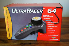 Manette ULTRA RACER 64 pour Nintendo 64 N64 NEUF!! Performance controleur volant
