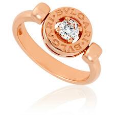 bvlgari bvlgari 18k pink gold diamond flip ring size 825