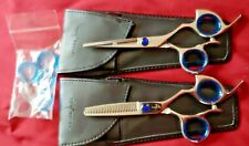 """Shark Fin Professional 5.5"""" inch Haircutting Scissors Thinning Shears Set RIGHTY"""