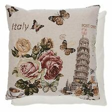 Clayre & Eef Coussin Italien Pisa Vintage Roses 44cm x 44cm shabby NEUF