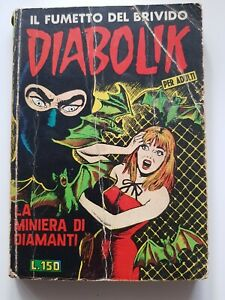 DIABOLIK seconda serie nr.1- La miniera di diamanti- 4 GEN 1965- DISCRETO/BUONO