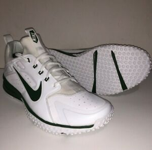 NIKE ALPHA HUARACHE TURF BASEBALL TRAINER SHOES MENS 11.5 GREEN WHITE AH7575-131