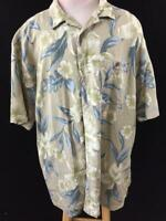 Boca Classic Island Wear  size XLT mens Hawaiian shirt tall green blue floral