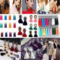 Women Retro Bohemian Earrings Vintage Long Tassel Fringe Boho Dangle Earrings JT