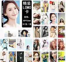 30pcs set Kpop Girls' Generation Yoona Personal Photo Picture Poster Lomo Cards
