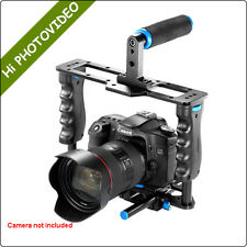 DSLR Camera Cage Kit 15mm Rod+Top Handle for Canon 5D Mark II,6D,7D,60D,70D