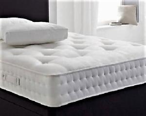 Luxury spring & memory foam mattress 9 inch - 2ft6, 3ft, 4ft, 4ft6, 5ft, 6ft