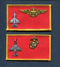 VMA USMC MARINE CORPS A-4 SKYHAWK ATTACK Squadron Name Tag Patch Set