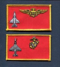 VMA USMC MARINE CORPS A-4 SKYHAWK ATTACK Squadron Name Tag Patch Set