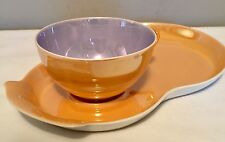 LUSTER SNACK PLATE  Fiddle Shape Saucer Tea Coffee Cup Altwasser Silesia GERMANY