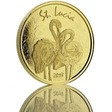 2018 1oz St. Lucia Flamingo .9999 Gold Coin BU in Certi-Lock #A483